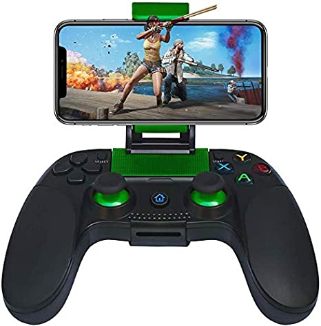 Amazon Com Mobile Game Controller Haolide Wireless Bluetooth Controller Gamepad Compatible With Android Ios Computers Accessories