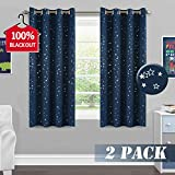 Full Blackout Curtains for Bedroom - Thermal Insulated Nursery Essential Starry Night Sleep-Enhancing