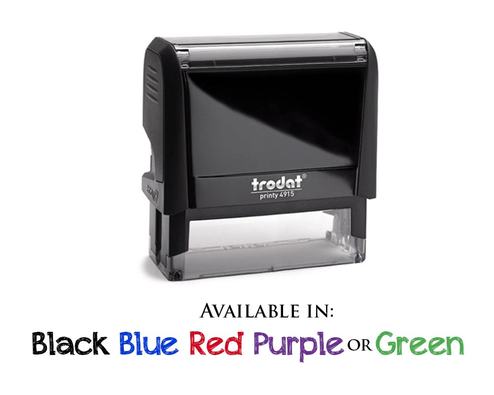 Business Self Inking Stamp Black - Return Address Office Stamper - Custom Personalized Company Address - Large 4 Lines - Professional Company Branding by Pixie Perfect Stamps (Image #2)