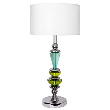 Van Teal Va0005 Elroy 29 5 Table Lamp Blue Lime Green Silver