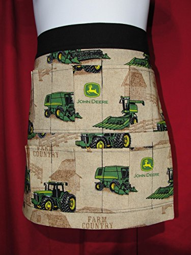Child Youth Handmade John Deere Tractor 6 Pocket Apron (Pockets hold eggs) Made in the ()