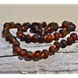 Not Polished Hand Made Baltic Amber Teething Necklace for Babies