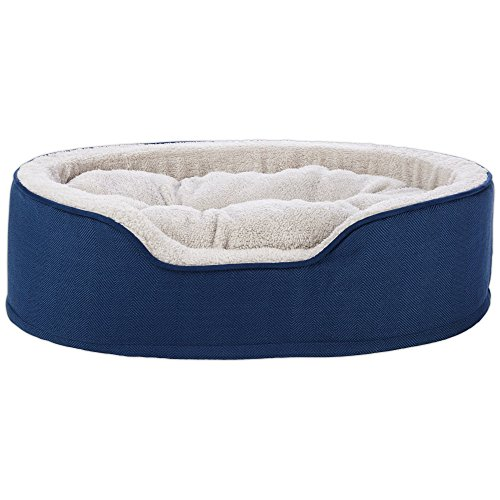 (Harmony Cuddler Orthopedic Dog Bed in Blue, 28