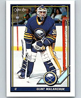 Amazon Com 1991 92 O Pee Chee 97 Clint Malarchuk Mint Hockey Nhl