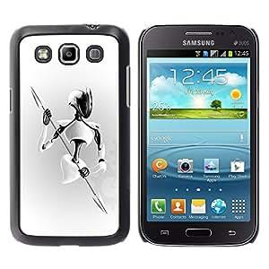 "For Samsung Galaxy Win I8550 , S-type Guerrero blanco"" - Arte & diseño plástico duro Fundas Cover Cubre Hard Case Cover"