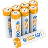 SunLabz AA Rechargeable Batteries, High Capacity NiMH, 8 Pack