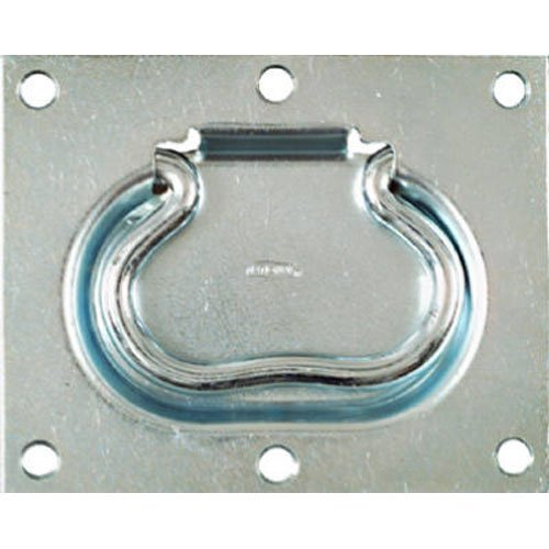 National Mfg. N185975 Flush Door Ring Pull For Chests, Trapdoor Lifts and By Passing Doors - Zinc Flush Handle