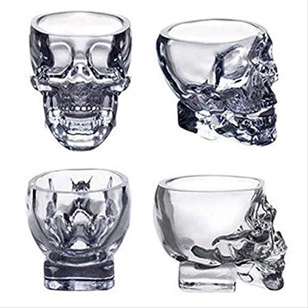 Vaso De Whisky con Calavera De Cristal Vaso De Whisky De Cristal Sin Plomo Premium para Whisky Irlandés Escocés O Borbón Y Cócteles A La Antigua