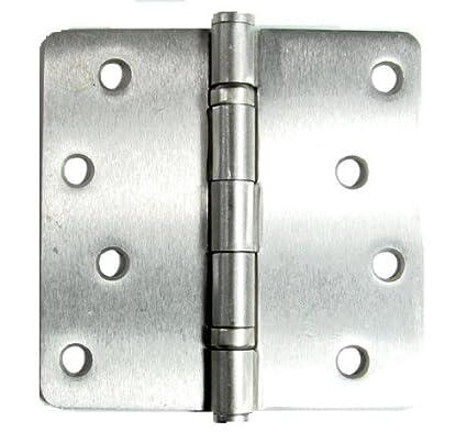 Exterior Door Hinges Satin Nickel 4 Inch with 1/4 Inch Radius - 2 ...