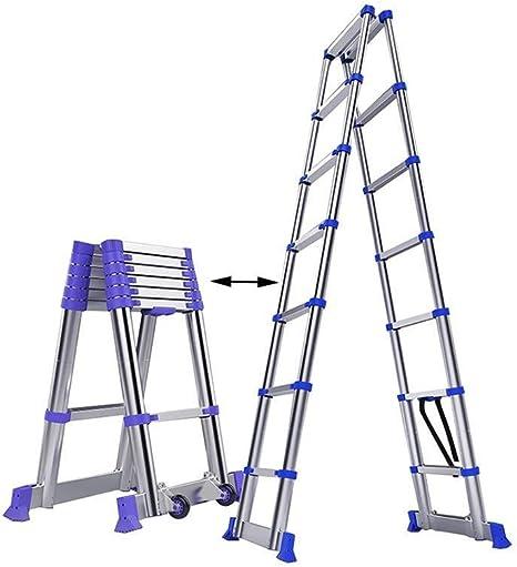 YXLONG Escalera Doble Telescópica Versátil Plegable Extensible Portátil Multifunción Escalera para Todas Tus Necesidades De Bricolaje,2.05m+2.05m: Amazon.es: Deportes y aire libre
