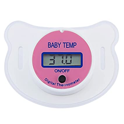Bebé Chupete Termómetro portátil LCD digital boca con ...