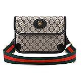 Waist Bag for Womens Fanny Packs Fashion Flap Crossbody Bags Quilted Belt Bag Ladies Waist Purse(Waist Bag for Black)