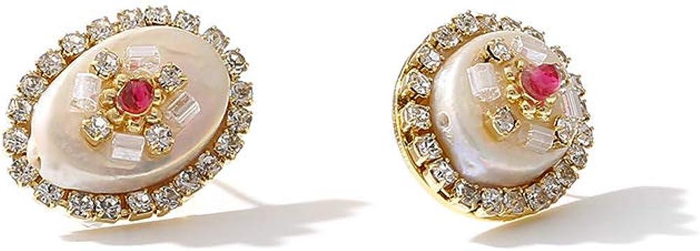 Pendientes De Perlas Ovaladas Para Mujer, Alfiler De Plata S925, Simplicidad Elegante