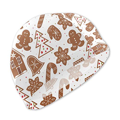 - Onlyouder Chocolate Christmas Tree Gingerbread House Swim Caps for Kids Boys and Girls Baby Bathing Caps for Long and Short Hair