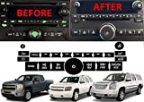 2012 chevy 1500 head unit - Radio Repair Kit Dash Replacement For 2007-2013 GM Head Unit Radio Vehicles Decal Stickers For Tahoe, Yukon, Denali, Silverado, Suburban, Avalanche, Acadia, Sierra, Saturn Outlook, Buick Enclave
