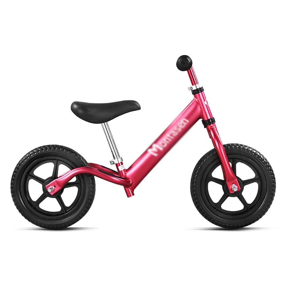 Bicicletta YXX Bike Balance per Bambini con Manubrio Sedile Regolabile - No Pedal Sport Bicycle per 2-6 Anni (colore   Red)
