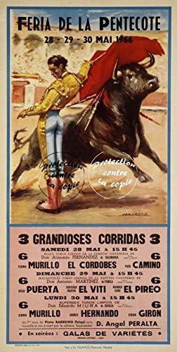 Herb/é /™ Feria CORRIDAS 1966 Rlcf-Poster//Reproduction 40x60cm* d1 Affiche Vintage//Ancienne//R/éTRO
