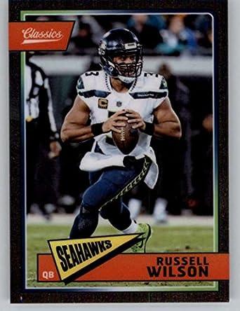 2018 Classics Football Premium Edition  86 Russell Wilson Seattle Seahawks  Panini NFL Card fc6a84630