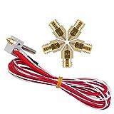Ivelink MK8 Extruder Hot End Part Assembled + 0.4mm Nozzle for RepRap 3D Printer 1.75mm Filament (12V 40W Heater)