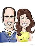 Custom Caricature Personalized Caricatures Cartoon Portrait Digital Custom Cartoon Caricature Personalized Cartoon Custom Cartoon Couple Art