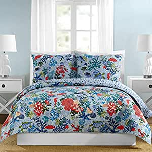 Amazon.com: Vera Bradley Shore Thing Quilt Twin Blue: Home ... - photo#22