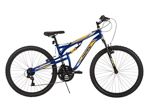 26'' Huffy Evader Men's Dual Suspension Mountain Bike, 21 Speeds, Navy Blue by Huffy