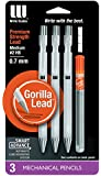 Write Dudes Smart Advance Mechanical Pencil with Refill, 3 Count (DDW33)