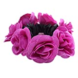 Rmeioel Women Fashion Flowers Hair Accessories Elastic Hairband Hair Circle Purple