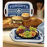 "Memory Company NHL-TML-309 Toronto Maple Leafs 16"" Melamine Serving Tray, One Size, Multi Color"