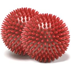 MERRITHEW Massage Ball, Pair (Red), 2.7 inch / 7 cm each