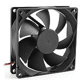 Chezaa 12V Quiet Computer Cooling Case Fan,Black (Black)