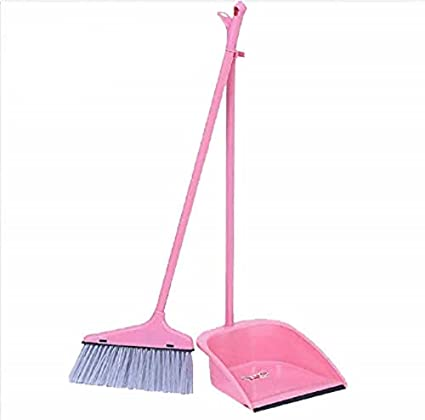 Kytaste Long Handle Dustpan and Brush for Sweeping & Cleaning Dust Pan and Broom Handled