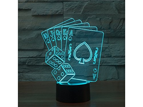 Zhisan Warm Poker 3D Lamp Led Night Light with 7 Colors Touch Switch USB Powered Bedroom Desk Lamp for Kids Gifts Home Decoration by Zhisan