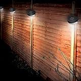 Zoozio - Set di 8 segnapasso da staccionata con luce a LED alimentati ad energia solare, per esterni e giardini