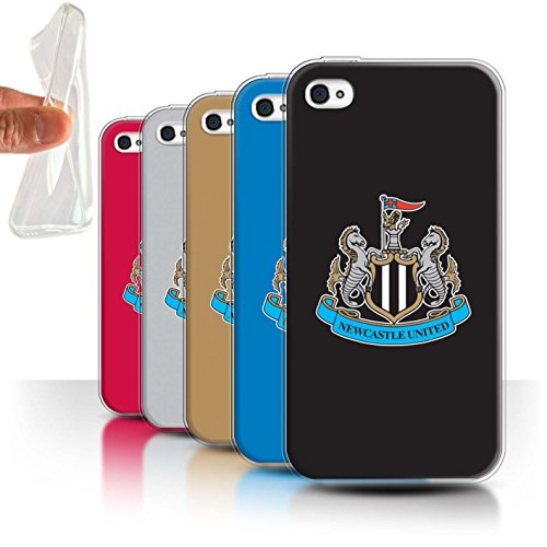 Offiziell Newcastle United FC Hülle / Gel TPU Case für Apple iPhone 4/4S / Pack 12pcs Muster / NUFC Fußball Crest Kollektion