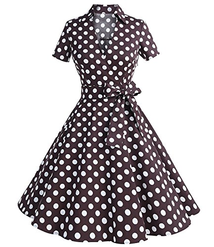 Vintage Brown Polka Dot - 1