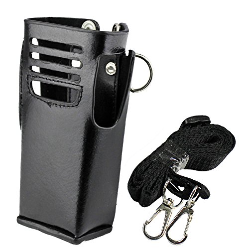 abcGoodefg Hard Leather Carrying Case Holder Holster with Belt Clip for Motorola Two Way Radio XIRP8200 P6500 by abcGoodefg