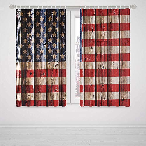 3170 Black Matte - iPrint Dinosaur Bedroom Curtains 4th of July Decor Happy National Day Liberty Freedom Democracy Country Patriarchal Graphic High-Precision Blackout CurtainPink Blue