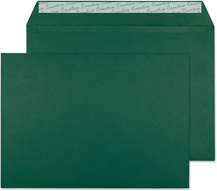 Bo/îte de 250 420 Bleu Oxford Blake Creative Colour C4 229 x 324 mm 120 g//m/² Enveloppes Bande Adh/ésive