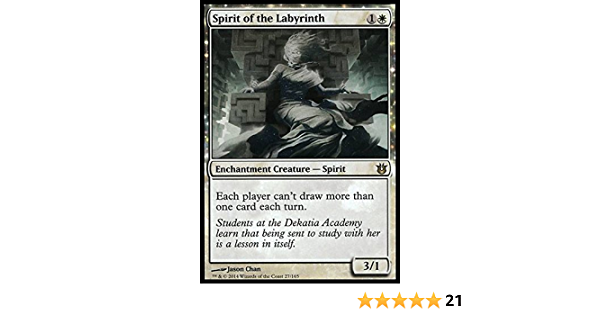 Born of the Gods The Gathering MTG Spirit of the Labyrinth LP Magic