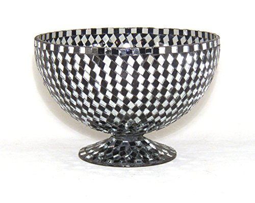 - Home Decoration Accessories Decorative Bowl Vase Mosaic Mirror and Black Diamond Shaped Glass Pieces 8