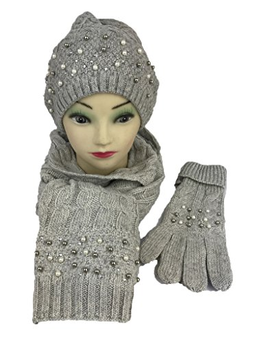 Scarf Set Crochet Pattern (POLAR Series Wool blended Gift Sets Hat, Glove and Scarf, touchscreen friendly gloves)