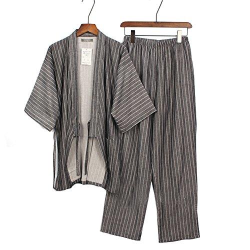 Da Pumpkin Fancy Gown a1 Pigiama Puro Abiti Suit Kimono Cotone Giapponese Stile Set Dressing Uomo wqIIdAr