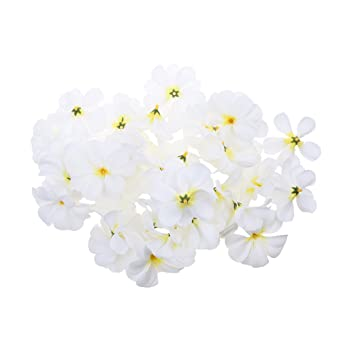 30pcs Artificial Flower Plumeria Rubra Flannel Heads Wedding Decor 7cm