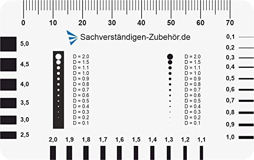 Made in Germany Expert accessories of 2 crack monitor Gap Ruler /& Measuring Tools for Real Estate Valuation Appraiser equipment for appraisers Damage reports on buildings with expansion joints
