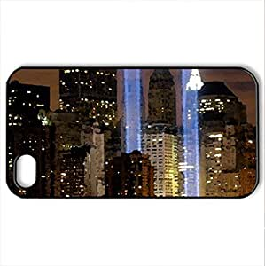 Lights of Home - Case Cover for iPhone 4 and 4s (Skyscrapers Series, Watercolor style, Black)