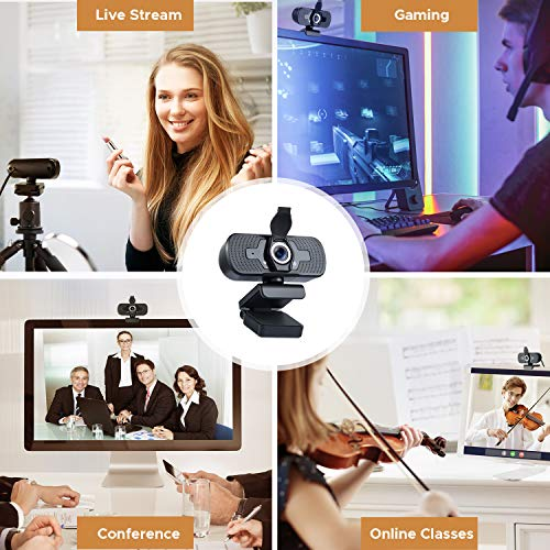 MUSON 1080P HD Webcam Desktop Laptop Computer Web Camera with Mic [Plug and Play] for Live Stream/Online Classes/Conference/Gaming, for Windows Mac OS & Major Livestream Apps