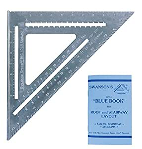 Swanson T0108 Big 12 Speed Square Layout Tool with Blue Book