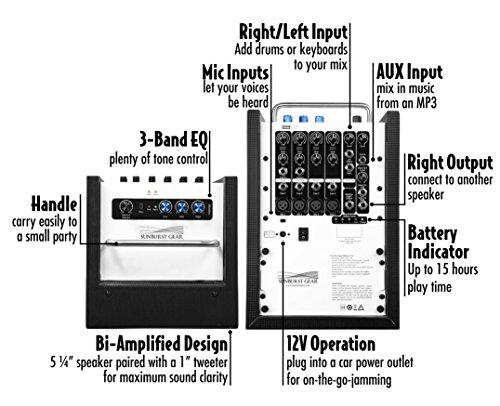 Sunburst Gear M6R8 Portable All-in-One Rechargeable PA Speaker by Sunburst Gear (Image #3)