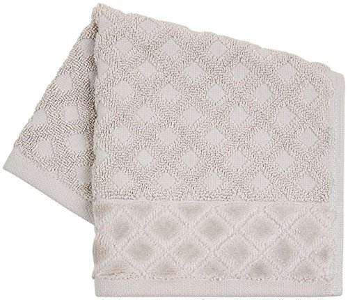 picture of Kassatex Diamant Washcloth - Silver Pond